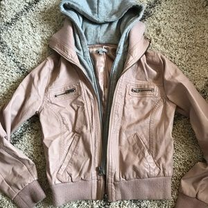 Charlotte Russe Pink Faux Leather Jacket